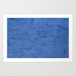 Light Blue Stucco - Corbin Henry Monochromatic texture -Faux Finishes - Venetian Plaster Art Print