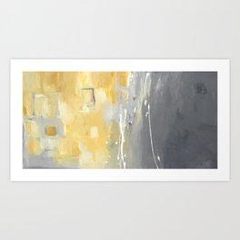 50 Shades of Grey and Yellow Art Print