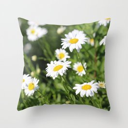 Daisy Daze Throw Pillow