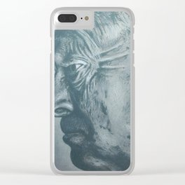 vladimir nabokov-grey scale Clear iPhone Case