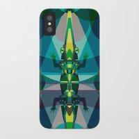 crocodile iPhone & iPod Cases featuring Crocodile by youareconstance
