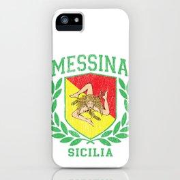 MESSINA: Sicilia Flag and Trinacria Shield Design - Sicily print iPhone Case