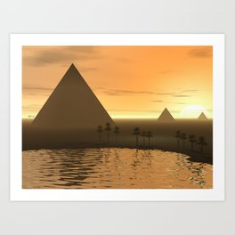 The Giza Necropolis Art Print