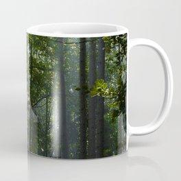 Green forest shrouded the sun. Coffee Mug