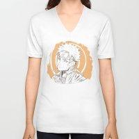 naruto V-neck T-shirts featuring Naruto by ilaBarattolo