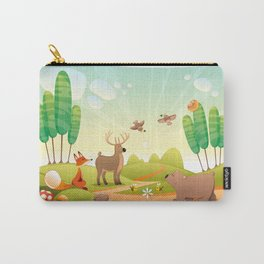Animals in the wood.  Carry-All Pouch