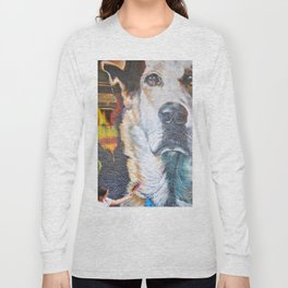 Few flowers as a tribute to the Loukanikos dog from Elisavet Long Sleeve T-shirt