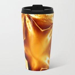 Elegant Shiny Copper Gold Christmas Star Travel Mug