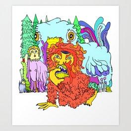 Wuh oh Art Print