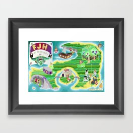 FJH ✮ Cartography EP Framed Art Print