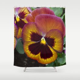 Pansy Painted Shower Curtain