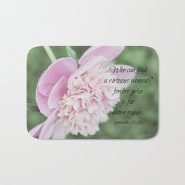 Proverbs 31 Above Rubies Bath Mat