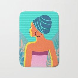 Abstract African Woman Portrait Bath Mat