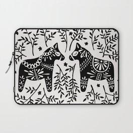 Swedish Dala Horses – Black Palette Laptop Sleeve