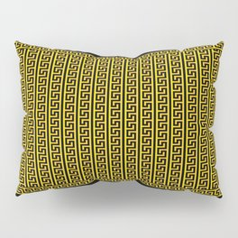 Greek Key Full - Gold and Black Pillow Sham