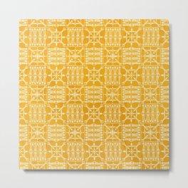 Pattern no. 01 Yellow Metal Print