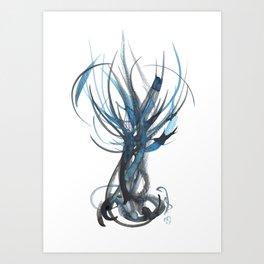 Cerulean Tree Art Print