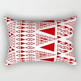 Zig Zag Pattern -  brick red Rectangular Pillow