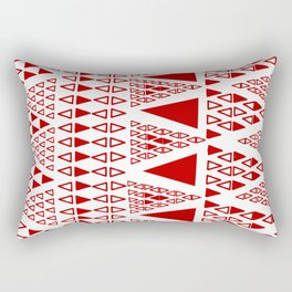 Zig Zag Pattern -  brick red Rectangular Pillow