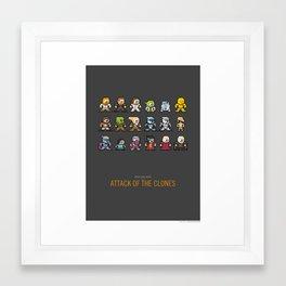 Mega Star Wars: Episode II - Attack of the Clones Framed Art Print