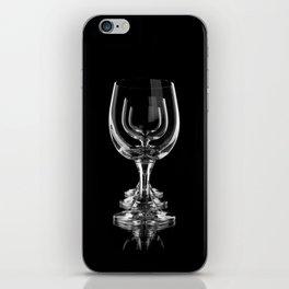 Three empty wine glasses on black iPhone Skin