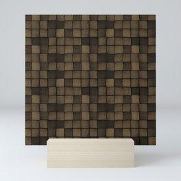 Wood Blocks-Chocolate Brown Mini Art Print
