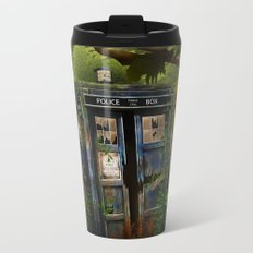 Abandoned Tardis doctor who in deep jungle iPhone 4 4s 5 5s 5c, ipod, ipad, pillow case and tshirt Metal Travel Mug