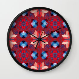 Abstract flower pattern 5h Wall Clock