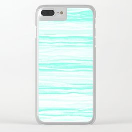 390 2 Crinkled Turquoise Clear iPhone Case