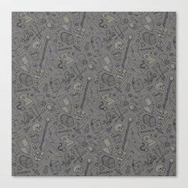 Inventory in Grey Canvas Print