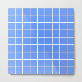 light blue cube Metal Print