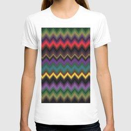 Zigzag Stripe Ethnic Face T-shirt