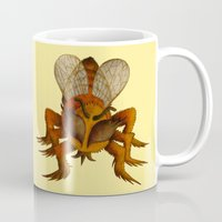 bee Mugs featuring bee by giol's