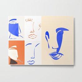 mariage de formes et de couleurs. Metal Print