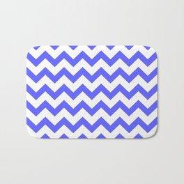 Chevron (Blue & White Pattern) Bath Mat