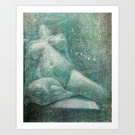 Female, Nude (Erased) Art Print