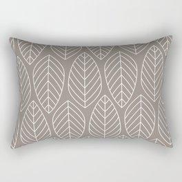 TAN LEAVES Rectangular Pillow