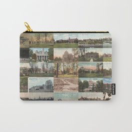 Kirkbride Asylum Vintage Postcard Collage Carry-All Pouch