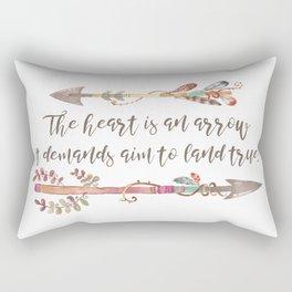 The Heart is an Arrow, It Demands Aim to Land True Rectangular Pillow
