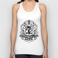 pitbull Tank Tops featuring pitbull inside by LGT logout graphix design