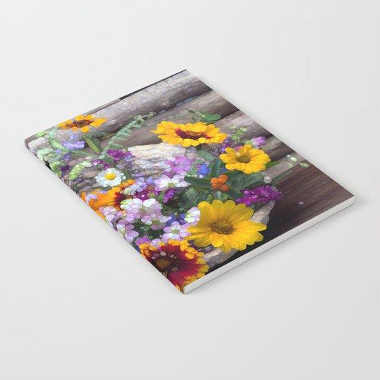 POP floral still life Notebook