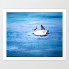The Fisherman of Bonaire Art Print