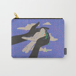 Caring for the Peace Dove Vintage Retro Bird Hands Carry-All Pouch
