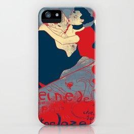 Reine de Joie, Henri Toulouse-Lautrec, Pop art poster iPhone Case