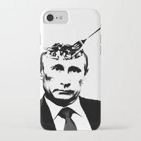 "putin iPhone & iPod Cases featuring Vlad ""Poutine"" - Putin Pun Portrait by MattSkinnerArt"