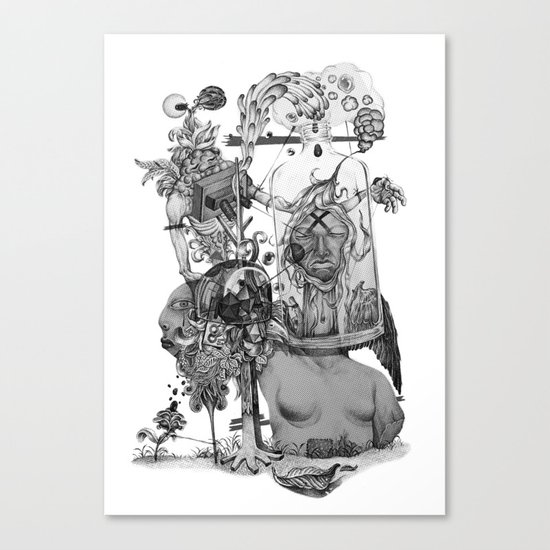 Untitled {BW} Canvas Print