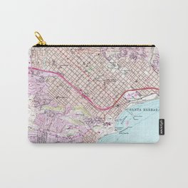 Vintage Map of Santa Barbara California (1952) Carry-All Pouch