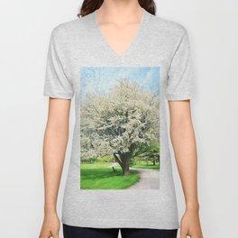 Tree in Bloom Unisex V-Neck