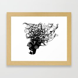 Bass Head Framed Art Print
