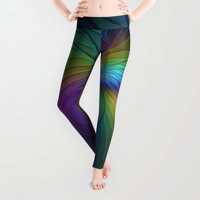 Colorful and Luminous, Abstract Fractals Art Leggings